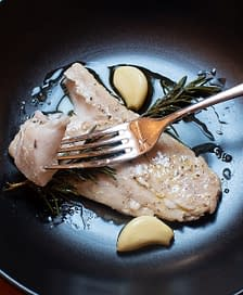 Olive Oil Poached Mahi Mahi with Garlic and Rosemary