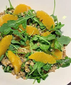 Farro with Arugula and Oranges