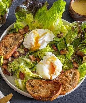 Classic Lyonnaise Salad with Dijon Olive Oil Dressing