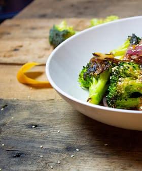 Pan-Roasted Broccoli with Tangy Grapefruit Vinaigrette