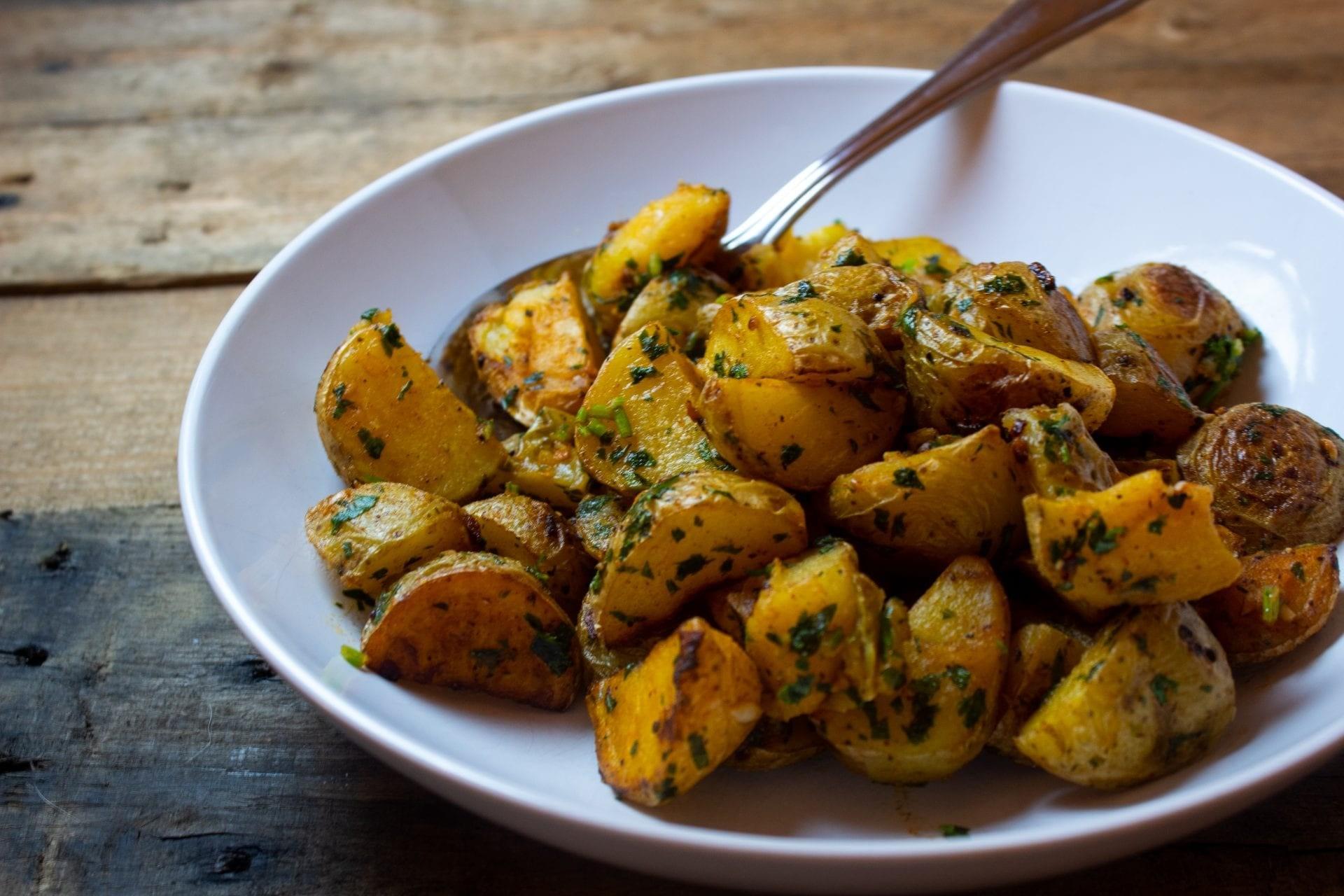 Roasted Potatoes with Garlic, Lemon, and Cilantro (Batata Hara)