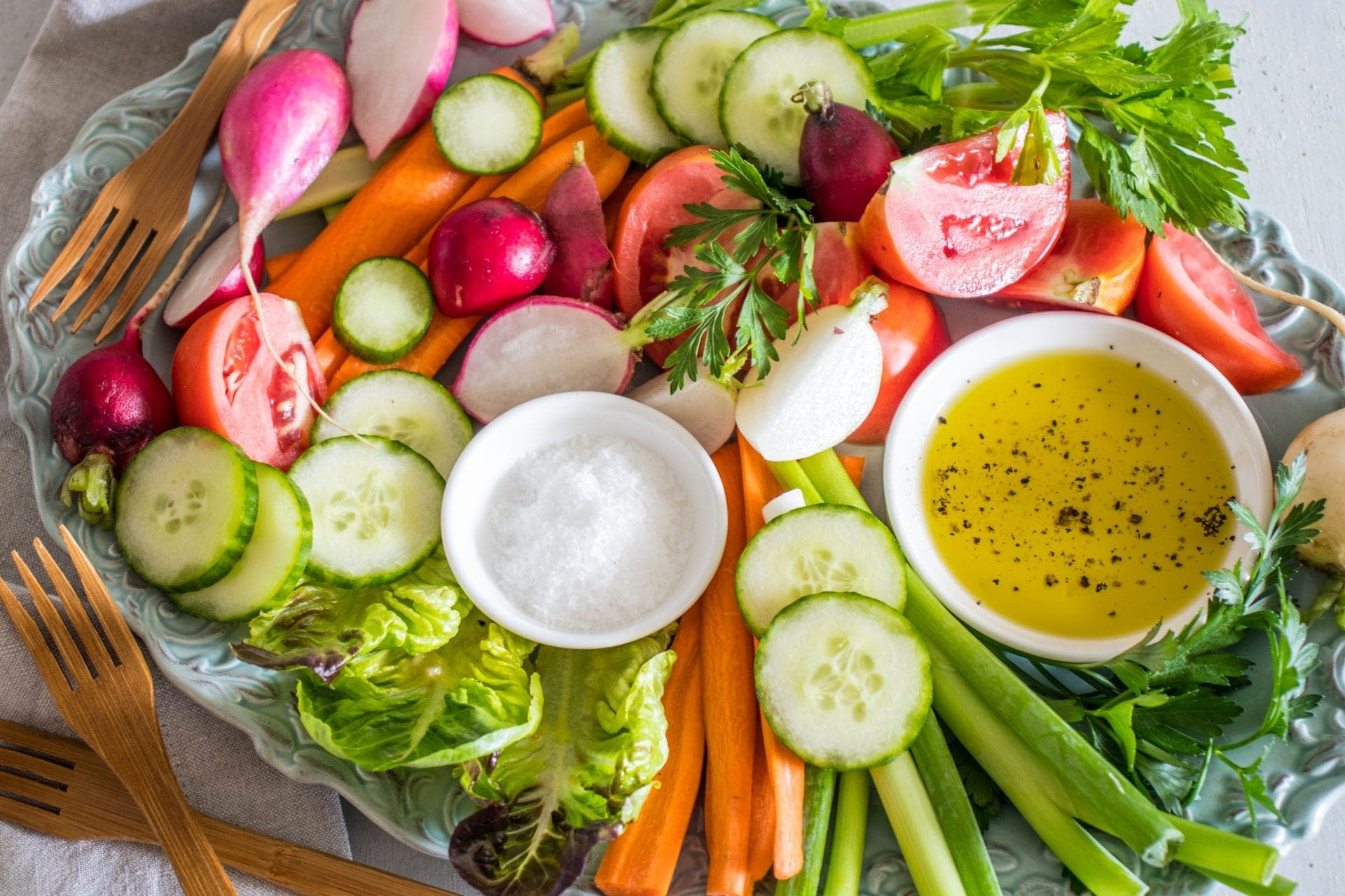 Italian Crudités (Cazzimperio) with Olive Oil Dip
