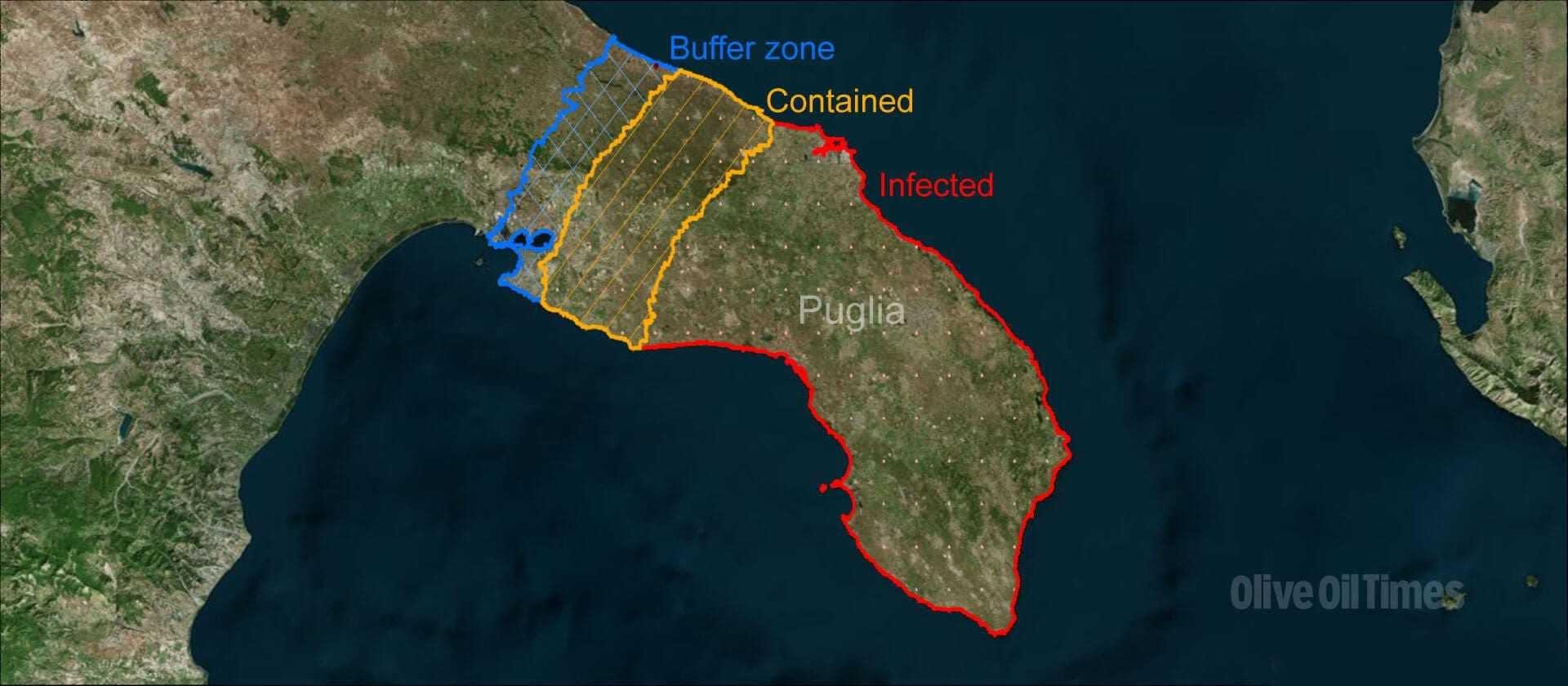 Mappa Xylella Puglia.Dove Stanno Morendo Gli Ulivi Un Rapporto In Prima Linea Su Xylella Olive Oil Times