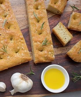 Homemade Olive Oil Focaccia