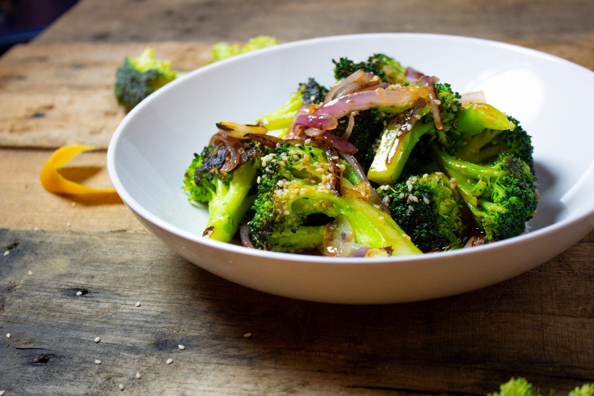 Pan-Roasted Broccoli with Tangy Grapefruit Vinaigrette