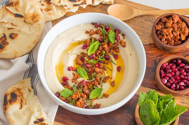 olive-oil-hummus-with-lamb-sausage-mint-pomegranate-olive-oil-times-olive-oil-hummus-with-lamb-sausage-mint-amp-pomegranate