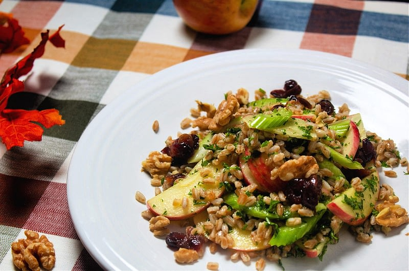 fall-farro-tabbouleh-with-spiced-cranberries-and-honey-crisp-apples-olive-oil-times-fall-farro-tabbouleh-with-spiced-cranberries-and-honey-crisp-apples