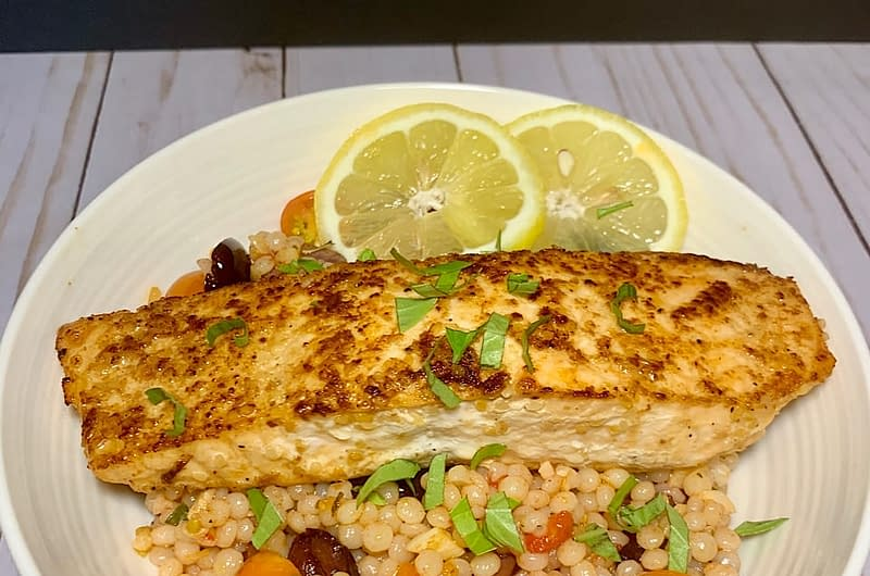 salmon-couscous-with-olives-tomatoes-olive-oil-times-salmon-couscous-with-olives-and-tomatoes