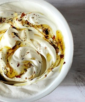 Labneh with Za'atar Spiced Olive Oil