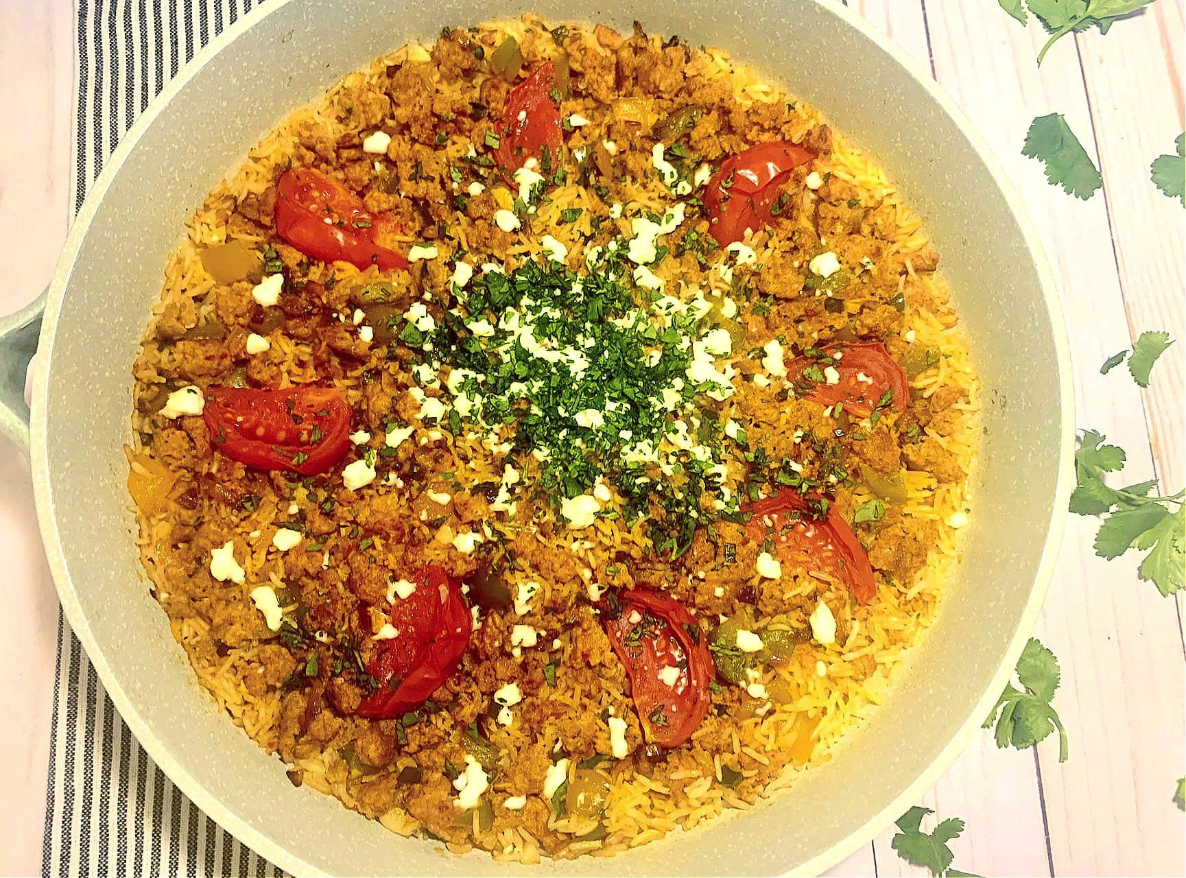 One Pot Spanish Chorizo and Rice